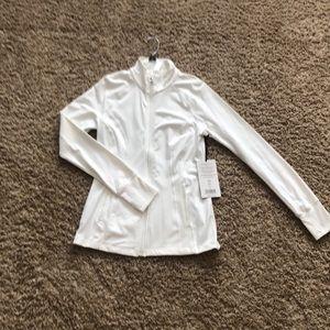White athletic jacket
